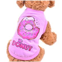 2017Pet Dog Clothes Brand New Teddy Bears dog Clothing Pet Vest T-shirt Watermelon Donuts Rabbit