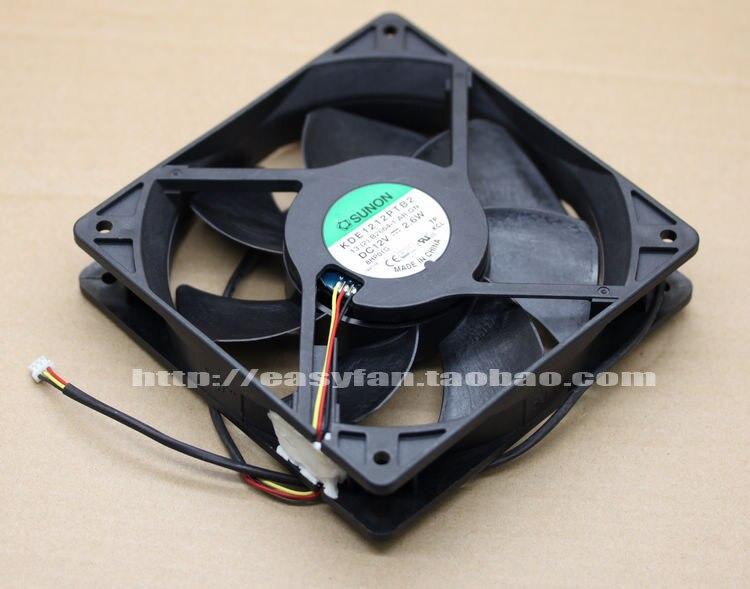 SUNON KDE1212PTB2 13.(2).B2664-1.AR.GN DC 12V 2.6W 3-wire 3-pin connector 120x120x25mm Server Square fan<br>