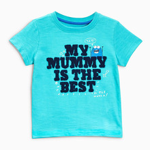 Little Maven New Boys  Summer Fashion Mummy's the Best Friend Letters Short O-neck Brand Cotton Quality Knitted Children Tshirt