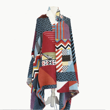 [Ode To Joy ] Women geometric Winter long Scarf Female men's print pashmina striped Warm Shawls & Scarves 190*95cm Hot sale