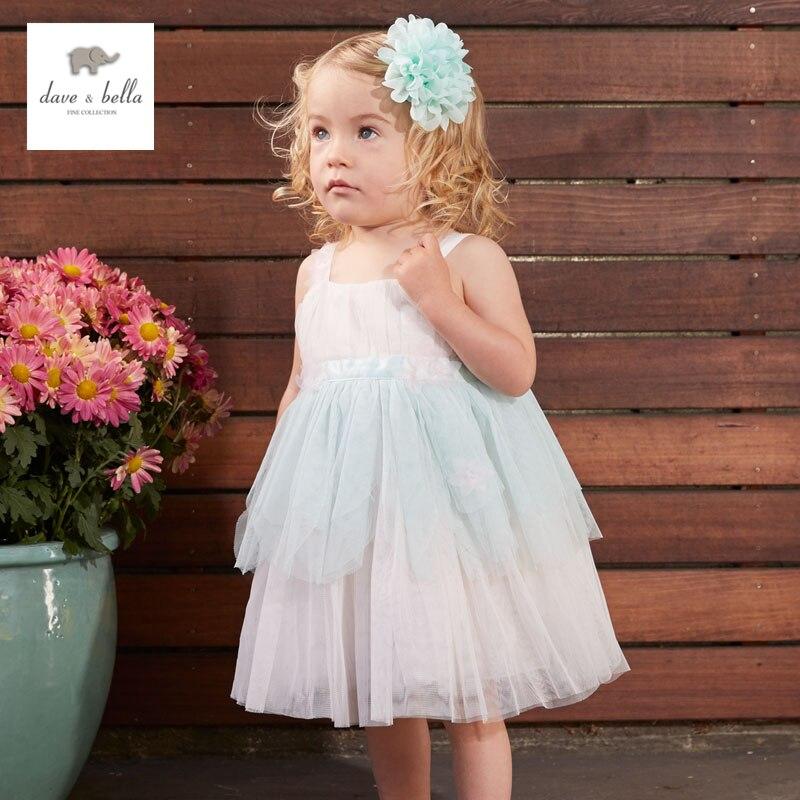 DB3322 dave bella summer baby girl princess dress baby big bow net yarn wedding dress kids birthday clothes dress girls costumes<br><br>Aliexpress