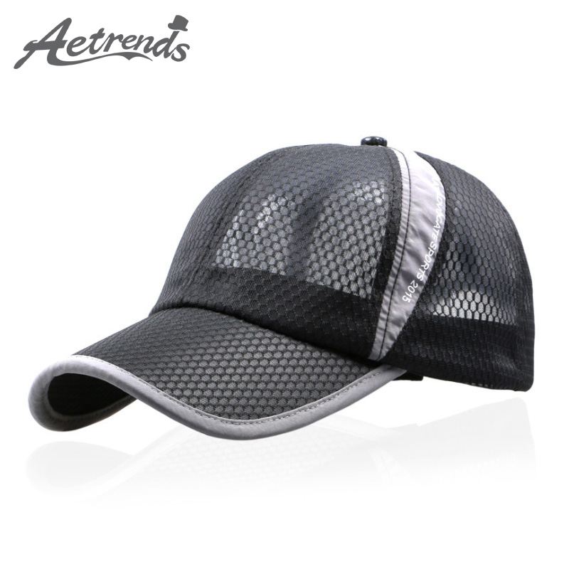 AETRENDS Mesh Hat Cap Men Women Branded Baseball Caps Summer Cap Outdoor Sport Breathable Hats
