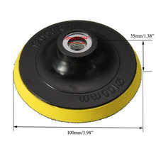 High Quality 1PC 4 Inch 100mm Polisher Bonnet Backing Pad Angle Grinder Wheel Sand Paper Discs Best Price