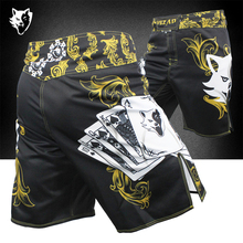 VSZAP Clothing MMA Training Shorts Cage Fighting Grappling Martial Arts Boxing Muay Thai Kickboxing Short poker pattern