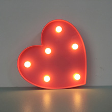 LED Heart 3D Night Light Creative Wall Lamp Kids Room Bedroom Lamp AA*2battery Party Home Decor Lover Gift Armoire Mini Light(China)