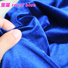Royal Blue Silk Velvet Fabric Velour Fabric Pleuche Fabric Clothing Fabric Evening Wear Sports wear Sold By The Yard(China)