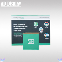 10ft Trade Show Booth Premium Straight Shape Easy Fabric Pop Up Display Wall With Foldable Pop Up Promotion Table