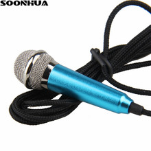 Professional New Mini Sing Song Microphone Lapel Microphone  For Android Phone/ iOS Portable Laptop Skype MSN