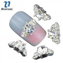 Blueness 10pcs/lot bijoux ongles 3d nail art rhinestone decoration h DIY nail accessories alloy nails Manicure Jewelry TN1125