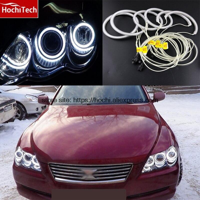 HochiTech 6pcs WHITE 6000K CCFL Headlight Halo Angel Demon Eyes Kit angel eyes light For Toyota Mark X Mark-X REIZ 2004 - 2009<br>