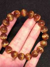 free shipping 10mm Natural Cat Eye Copper Rutilated Quartz Crystal Beads Bracelet AAAAA(China)
