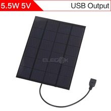 ELEGEEK 5.2W 5V 210*165mm 1100mAh DIY Solar Cell Panel with USB Output Polycrystalline PET + EVA Laminated Mini Solar Panel