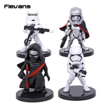 Star Wars 4pcs/set KYLO REN STORMTROOPER FLAMETROOPER CAPTAIN PHASMA Mini PVC Figures Collectible Model Toys Boxed(China)