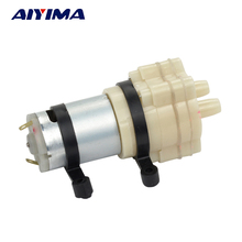 DC6-12V Water Pump Diaphragm self-priming micro 385 Aquarium Pumps Motor circulating Scrub Grain Oil(China)