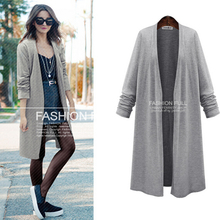 female coat 2017 spring new European style plus fertilizer to increase size women solid color cardigan sweater coat
