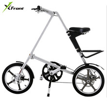Original X-Front Brand light Aluminum Alloy folding bike load 110kg 14'' / 16'' rubber tire personality bicycle(China)