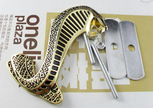 Auto Gold metal Cobra Snake Grille Grill Badge Emblem for Mustang car tuning(China)