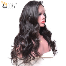 Doozy loose wave Chinese virgin human hair lace front wigs(China)
