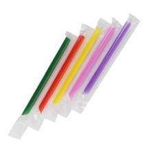Assorted Colors 50-pc Big Wide Bubble Tea Smoothie Straw