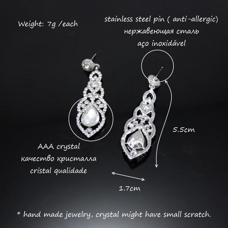 Fashion Vintage Mariage Cristal Strass Dangle Drop Chandelier Boucles d/'oreilles Cadeaux