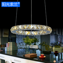 Mirror Stainless Steel Crystal Ring LED Pendant Light AC110V-220V Diningroom Bedroom Restaurant Studyroom Ceiling Pendant lamp(China)