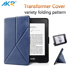 Fashion PU Leather Case for Kindle voyage Stand Cover Variety Folding Pattern AKR 2017 New Arrival Free Gift Free Shipping(China)