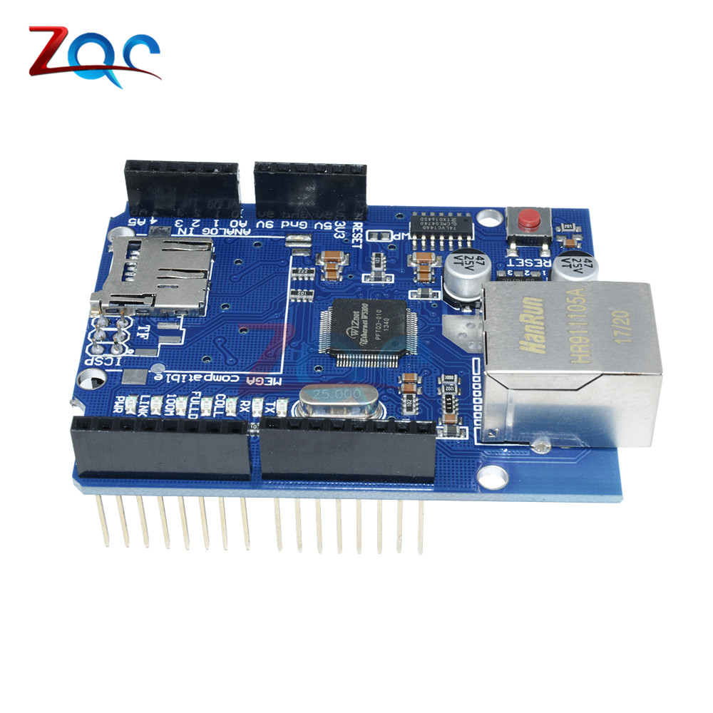 10pcs Ethernet Shield W5100 For Arduino Main Board 2009 UNO ATMega 328 MEGA2560