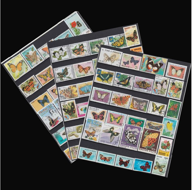 No repeat!  Butterfly topic postage stamp Swallowtail Butterfly , Tiger Butterfly postage stamp collections 100 pieces/bag<br><br>Aliexpress