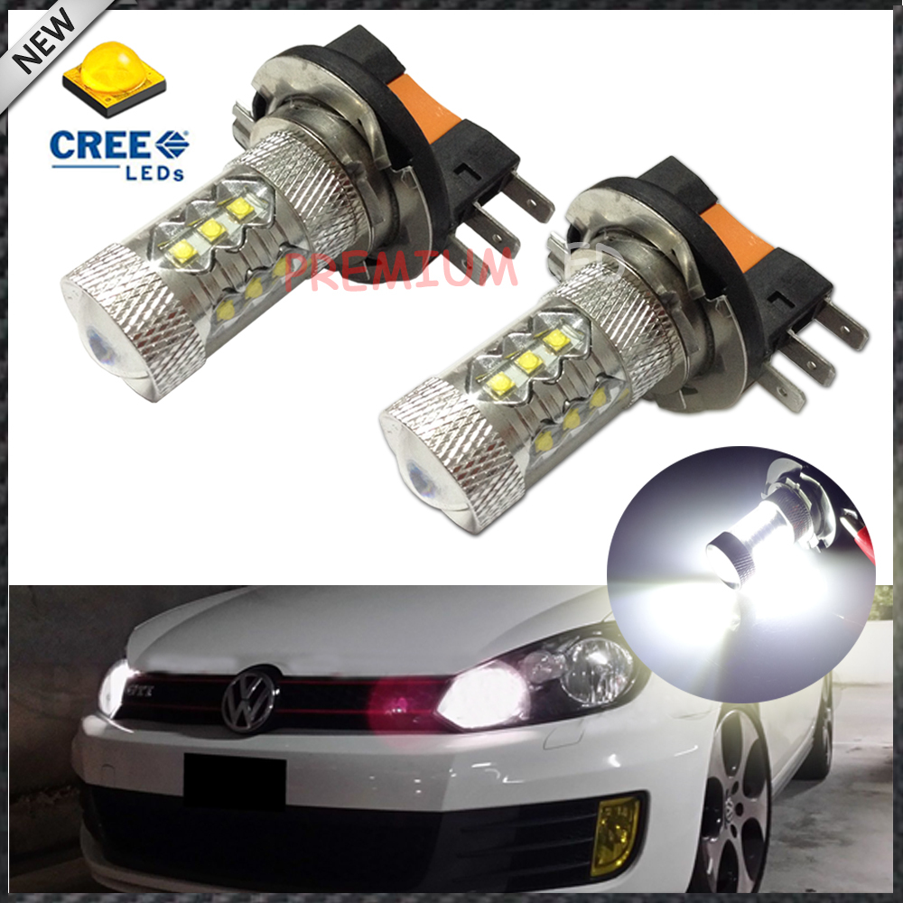 2pcs Xenon White 80W High Power H15 CREE LED Bulbs For Daytime Running Lights For Audi BMW Mercedes Volkswagen<br><br>Aliexpress
