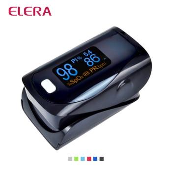 ELERA Тревожные Цифровой палец пульсоксиметр CE FDA пульсоксиметр пальца, pulsioximetro SPO2 PR oximetro де dedo Свободное P & P
