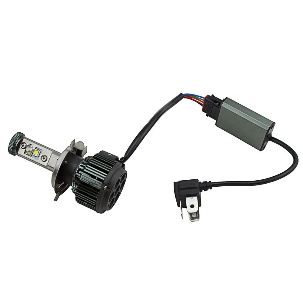 1 pcs 4000LM Car V16 LED turbo Headlight Kit H4 HB2 9003 Cr ee motorcycle Replacement Bulb Anti Dazzle Beam 3000K 4300K 8000K<br><br>Aliexpress