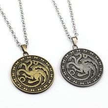 Game of Thrones Necklace Song of ice and fire Pendant Man Women stainless steel Chain Necklaces Gift TV Jewelry(China)