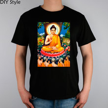 BUDDHISM religion BUDDHA head T-shirt cotton Lycra top 10357 Fashion Brand t shirt men new