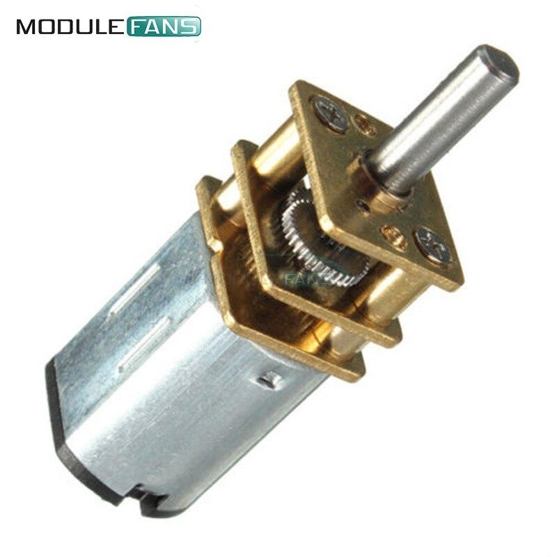 DC 6V 30RPM Micro Velocidad Reducción Gear Motor con eje de rueda de caja de cambios de Metal NUEVO