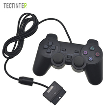 Hot Sale Transparent Color Wired Controller For Sony Playstation 2 Gamepad Double Vibration Clear Controle For Sony PS2 Joystick(China)