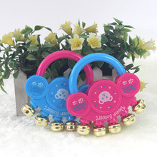 2016 New Cartoon baby rattle rattle toys Hot metal bells ringing bells classic toys 10*11cm()
