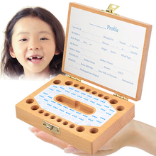 2 In 1 Baby Tooth Wood Box Organizer Lanugo Hair Save Box Boy/Girl/Unisex Image For Baby Teeth Hair Collection