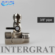 "high quality,water purifier integrated  inlet interface valve switch,for 3/8"" water pipes,stainless steel ,Water purifier parts"