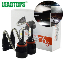 2PCS 60W COB LED H1 H4 H7 Car Headlight Bulbs Auto 9004 H11 Led Headlamp 6000K Fog Lights For Toyota Honda Nissan Mazda Ford FJ