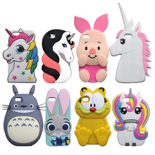 "3D Cartoon Cat Case For iPhone 4 4S 5S SE 5C 6 6S 7 Plus 5.5"" Cover Judy Dog Zebra Unicorn Bear Bunny Pig Horse Phone Bags"