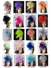20 colors New Sinamay Fascinator hat Feather fascinator hair accessory for races,wedding,party,melbourne cup,kentucky derby