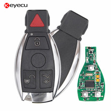 Keyecu 4 Buttons 315MHz 433MHz Smart Remote Key Mercedes Benz Support NEC BGA 2000+ Year Auto Car Key Benz