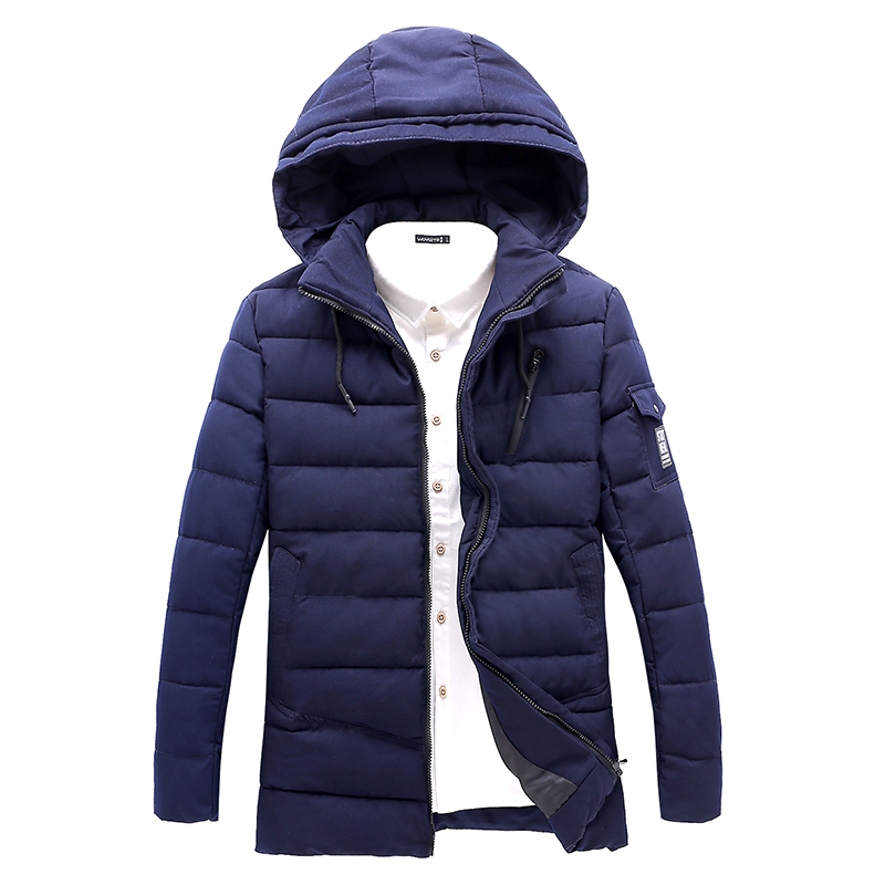 2017 New Men Parka Winter Cotton-padded Jacket Fashion Plus Size Man Coat Solid Hooded Casual Clothing Male hot saleОдежда и ак�е��уары<br><br><br>Aliexpress