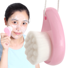 New Facial Cleansing Brush Deep Pore Face Clean Brush Soft Fiber Facial Brush