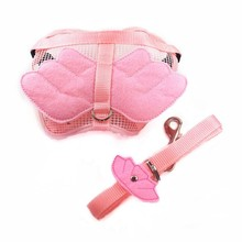 Hot Sales Hot Pet Dog Cat Adjustable Angel Wing Safety Harness Lead Leash Pink Blue 3 Size