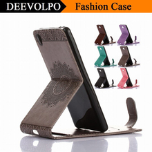 DEEVOLPO Flip Leather Case For Sony X XA XP Performance Z3 Z5 Mini Compact Up And Down Cover Original Fundas Capa DP95