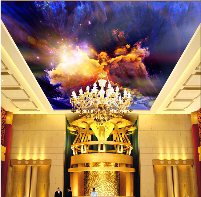 Custom universe wallpapers, colorful dream star for the living room bedroom KTV bar ceiling wall vinyl Papel de parede<br>