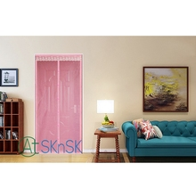 2pcs/lot Multi color for choice 7 buckle Summer durable curtain for door decoration high quality striped kitchen door curtains
