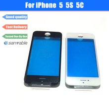 For iPhone 5 5S 5C High Quality LCD Front Glass Outer Lens Touch Screen Cover with Frame Bezel Assembly Housing Parts