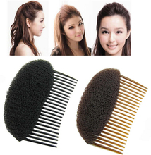 free shipping Hair Styler Volume Bouffant Beehive Shaper Bumpits Bump Foam On Clear Comb